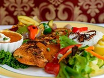 Grilled Salmon With Goa Sauce